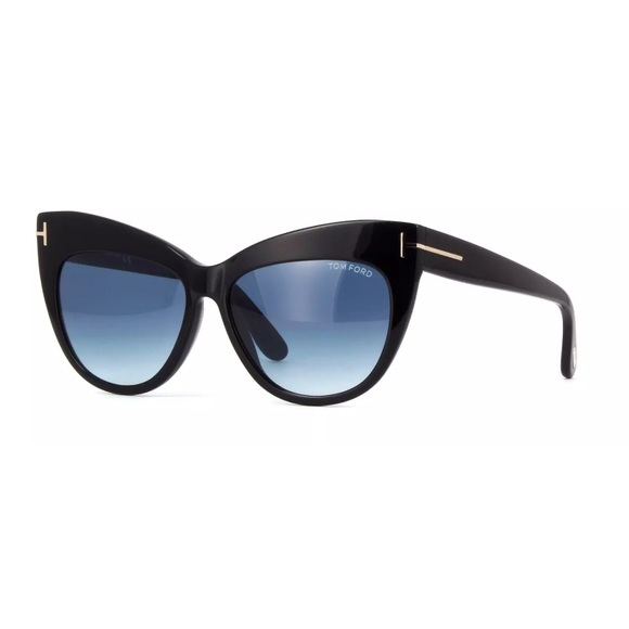 72f952742cc2d Tom Ford Sunglasses FT TF 523 01W Nika Black Blue